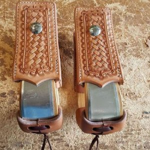 Leather Covered Stirrups